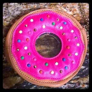 Betsey johnson pink frosted donut purse